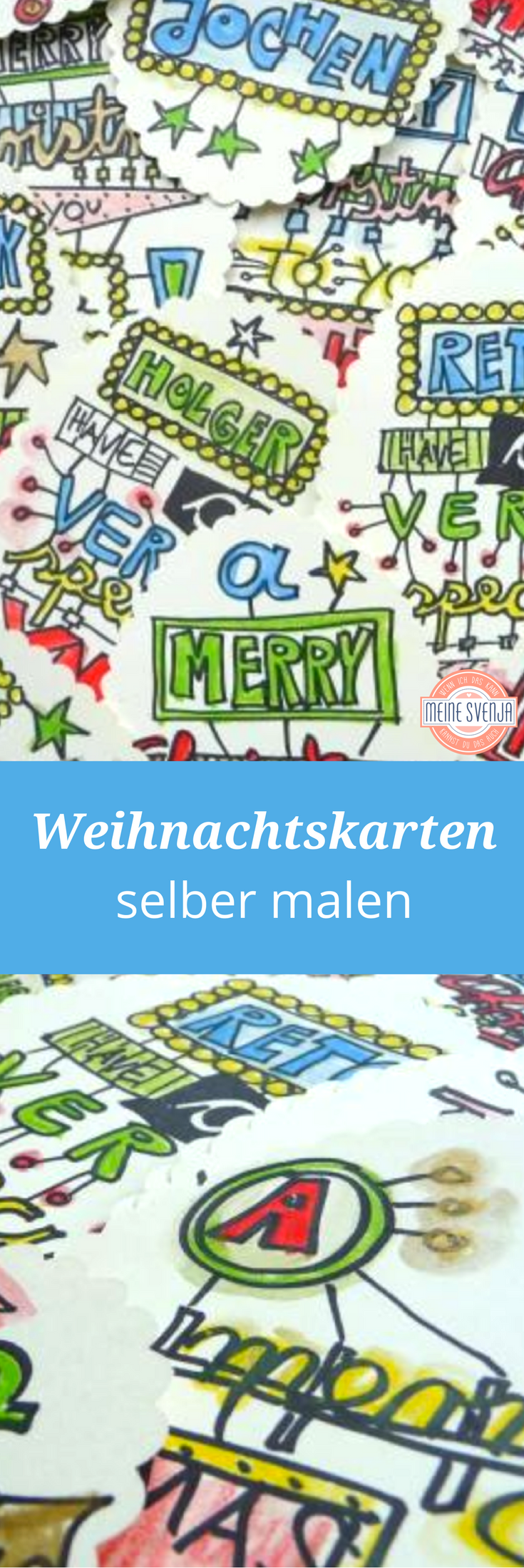 Weihnachtskarten Selber Malen Meine Svenja
