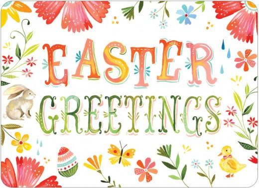 Osterkarten basteln Easter Greetings Flower Postcard www.meinesvenja.de