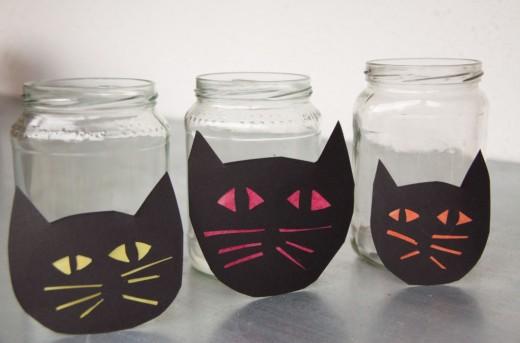 halloween basteln leuchtende nachtkatzen meine svenja. Black Bedroom Furniture Sets. Home Design Ideas