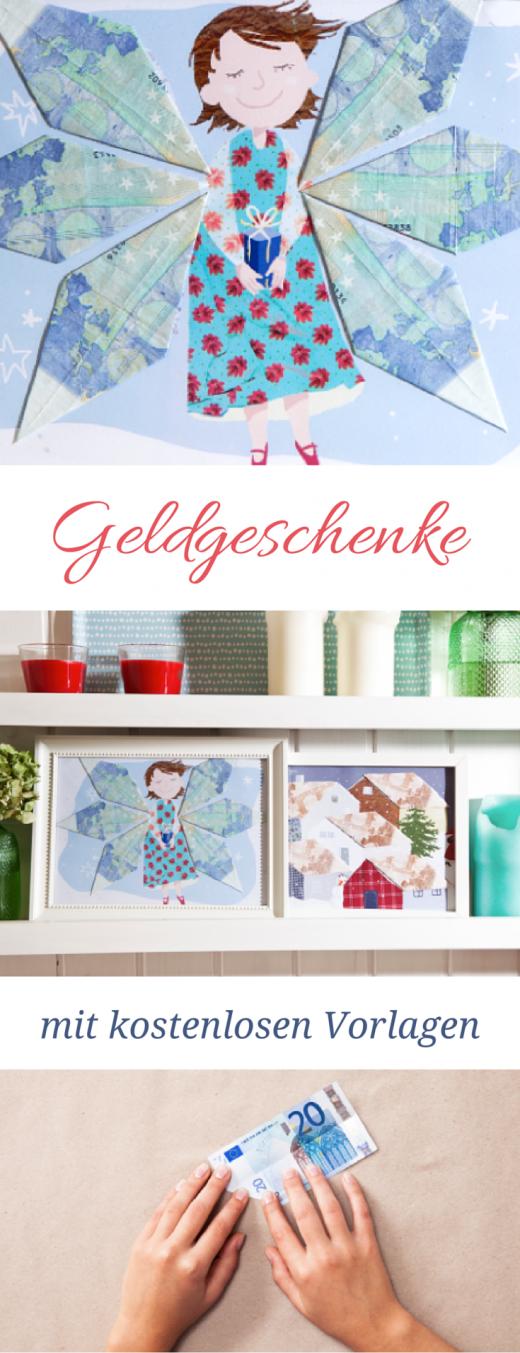 Geldgeschenke basteln mit kostenlosen Vorlagen - Printables für Geldgeschenke Weihnachten