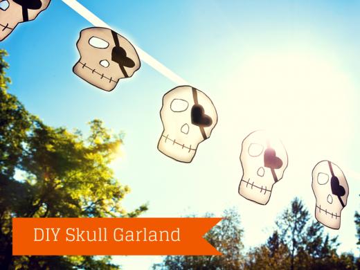 DIY Skull Garland