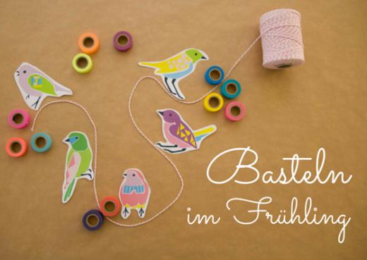 Wir basteln Frühling: mit Kordel, Masking Tape und dem bird template zum kostenlosen Download jede Menge Frühlingsdeko basteln. Die Downloads gibt es auf https://www.meinesvenja.de/wp/2015/03/31/basteln-fruehling/