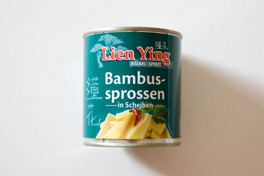 Curry Rezept wie aus dem Thai Restaurant von www.meinesvenja.de - ich verwende immer diese Bambusscheiben, die es in jedem gutsortierten Supermarkt gibt.