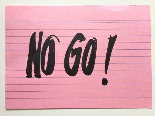 No go (1 von 1)