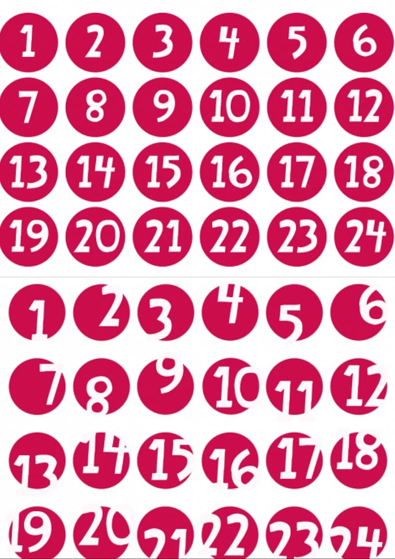 Adventskalender Zahlen Zum Ausdrucken Meine Svenja