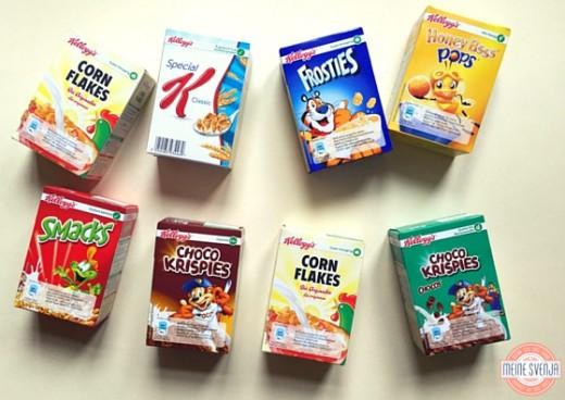 Adventskalender Zahlen zum Ausdrucken Kleine Cornflakes Boxen www.meinesvenja.de