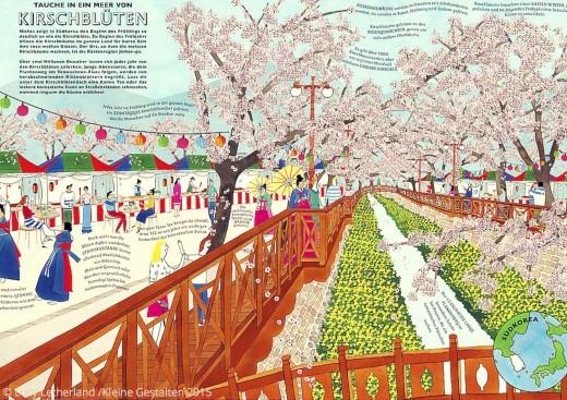 Der Atlas der Abenteuer Kirschblüten Buch Kleine Gestalten Verlag www.meinesvenja.de