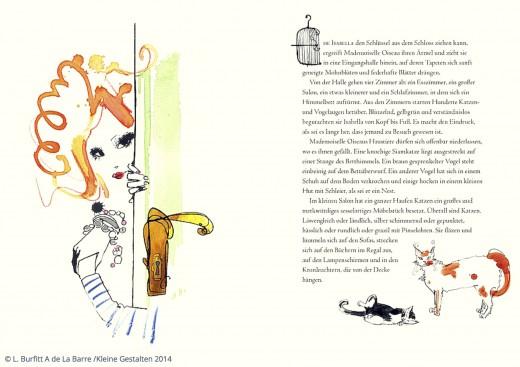 Die Geschichte von Mademoiselle Oiseau Auszug aus dem Buch Verlag Kleine Gestalten www.meinesvenja.de