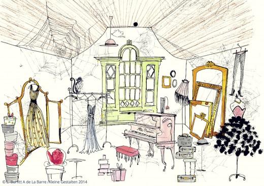 Die Geschichte von Mademoiselle Oiseau Das Zimmer Buch Verlag Kleine Gestalten www.meinesvenja.de
