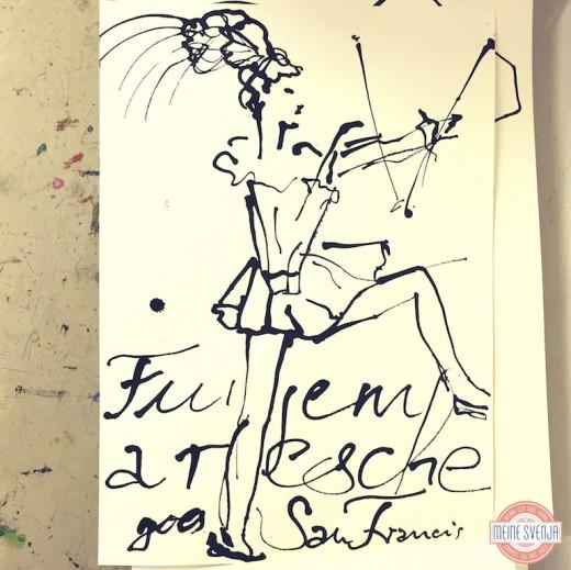 Basteln für Erwachsene Kinderkunsthaus München Blogger Event Funkenmarie zeichnen www.meinesvenja.de