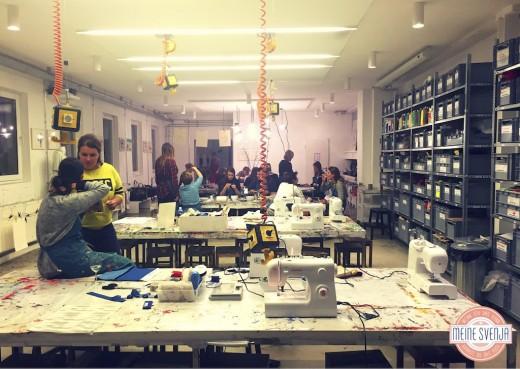 Basteln für Erwachsene Kinderkunsthaus München Blogger Event Kreativwerkstatt Überblickwww.meinesvenja.de