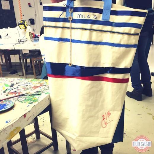 Basteln für Erwachsene Kinderkunsthaus München Blogger Event Tasche selber machen www.meinesvenja.de