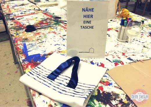 Basteln für Erwachsene Kinderkunsthaus München Blogger Event Tasche selber nähen www.meinesvenja.de