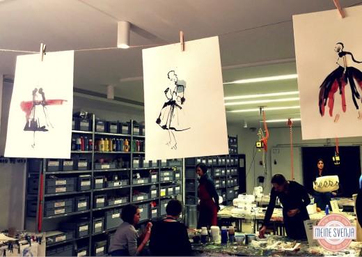 Basteln für Erwachsene Kinderkunsthaus München Blogger Event Bilder trocknen www.meinesvenja.de