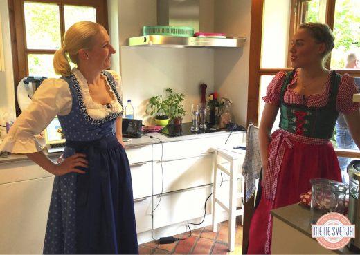 Mein RTL Dreh behind the scenes Svenja Walter & Lotte Lang Dirndl Oktoberfest www.meinesvenja.de