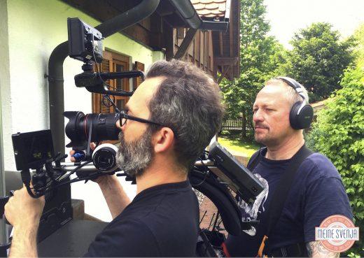 Mein RTL Dreh Kameramann und Assistent Schuss Draussen www.meinesvenja.de