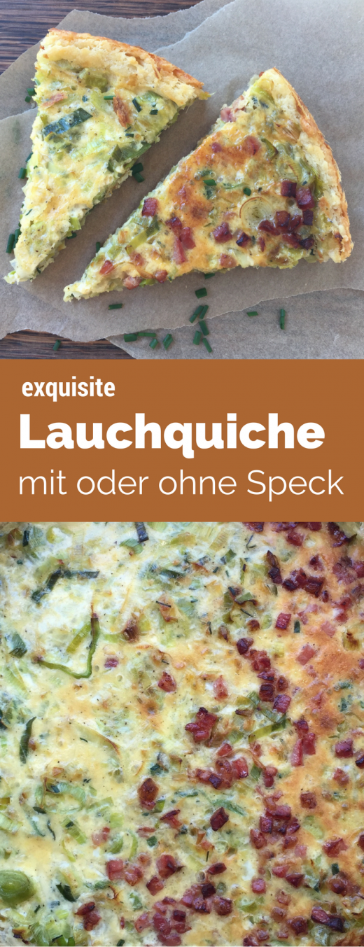 Deftige Lauchquiche mit oder ohne Speck - Rezept aus dem 4 Sterne Superior Familotel Sonnwies in Südtirol. in
