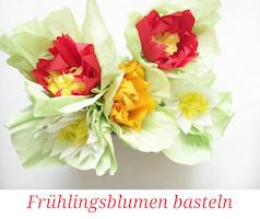 Blumen basteln zur Frühlingsdeko