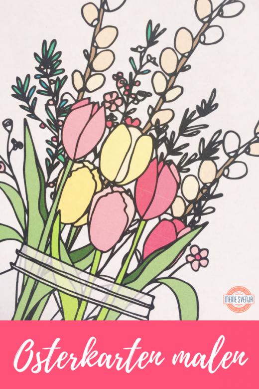 Pinterestbild für Osterkarte basteln