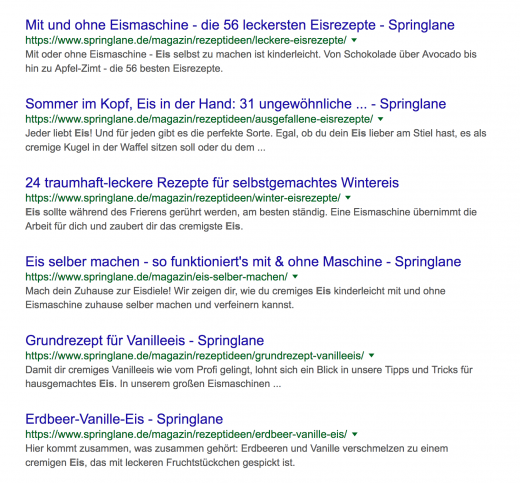 Springlane Artikel zum Thema Eiszubereitung
