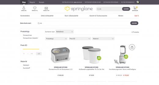 Springlane Angebote zum Thema Eiszubereitung