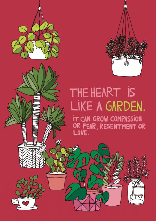 Pflanzen zeichnen - Zitat zum Download