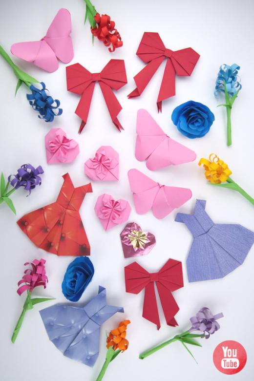 Bastelideen mit Papier für Kindergeburtstage, für Mädchen und für blumenbegeisterte Jungen