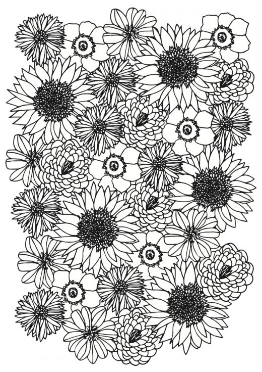 Kostenlose Ausmalbilder Blumen – Malvorlagen zum Ausdrucken