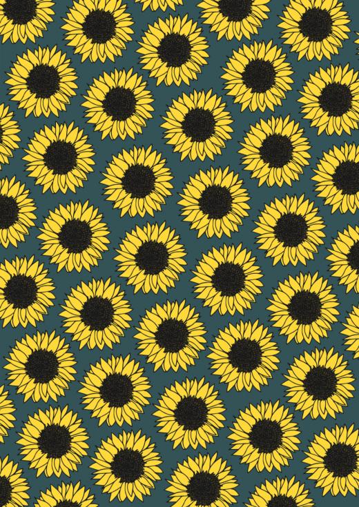 Sonnenblumen Geschenkpapier - Sonnenblumen zum Ausdrucken - Geschenkpapier zum Ausdrucken mit Blumen - Geschenkpapier kostenlos ausdrucken