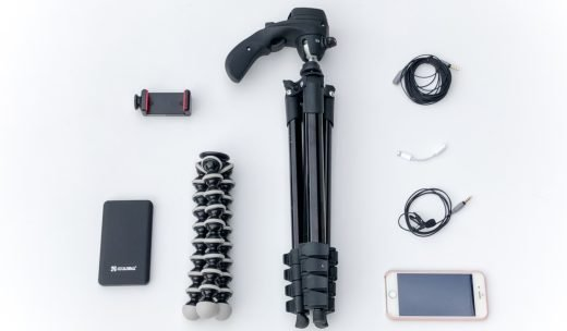Ausrüstung zum Dreh mit dem Smartphone