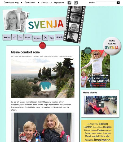 Bloggen lernen - mein erstes Blogdesign auf meinesvenja