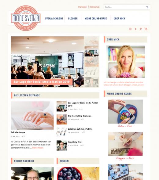 Bloggen lernen - der Blog Relaunch von meinesvenja