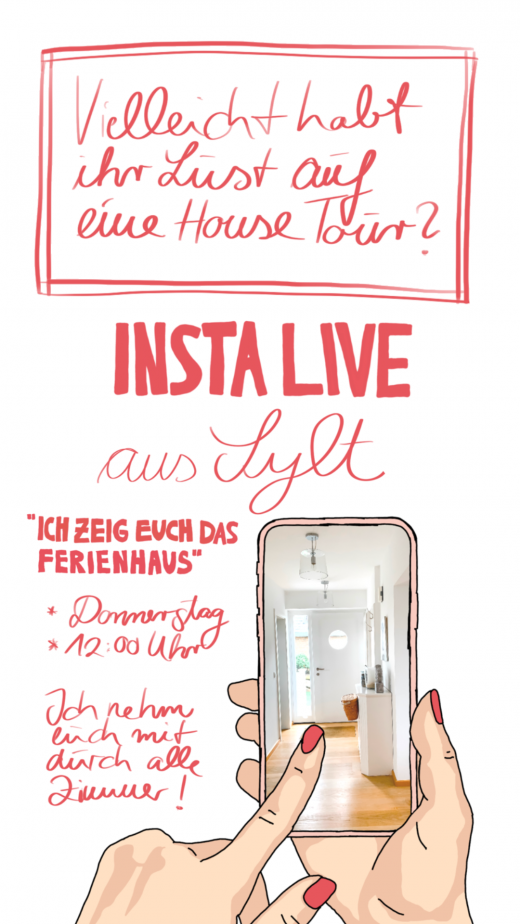 Ankündigung Insta Live in den Stories