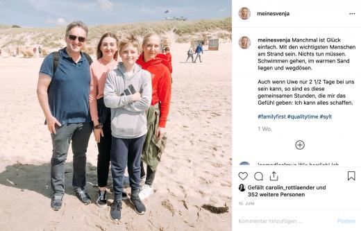 Instagram Feed - begleitendes Bild für die erste Sylt Story