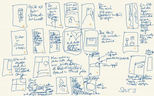 Scribble einer Instagram Story