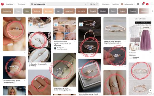 GIF erstellen - Verlobungsring Suche bei Pinterest