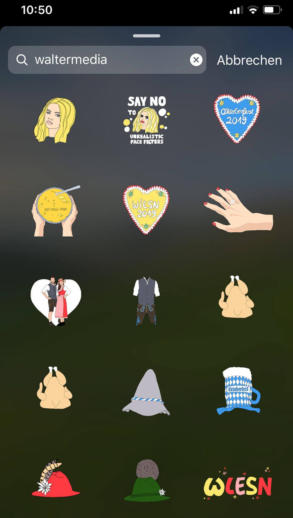 GIF Sticker Instagram Stories
