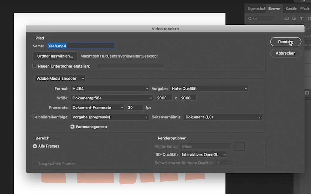 GIF Video exportieren